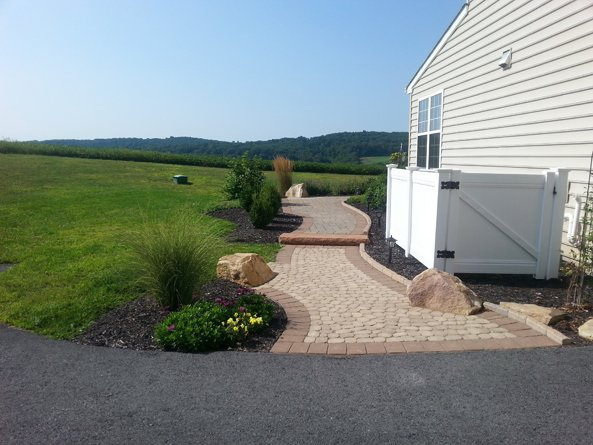 Lehigh Valley Hardscapes Inc. - Patio, Outdoor Patio, Backyard Hardsacpe, Hardscape Ideas, Lehigh Valley Landscaping, Stone Walkway