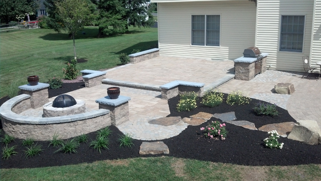 before and after landscape design artistic hardscapes