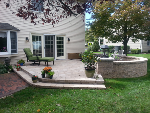 Before And After Landscape Design Artistic Hardscapes Easton Pa