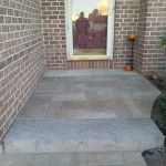 stone steps and landing outside of front door