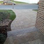 View of driveway from front door of house