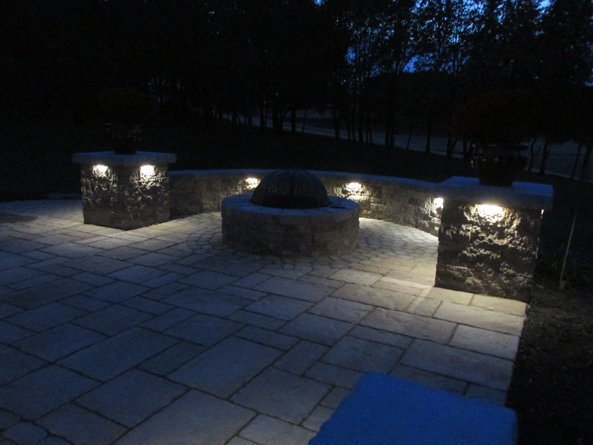 Lehigh Valley Hardscapes Inc. - Patio, Outdoor Patio, Backyard Hardsacpe, Hardscape Ideas, Lehigh Valley Landscaping, Patio Lighting