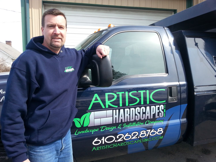 owner of artistic hardscapes