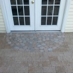 stone patio design for back door